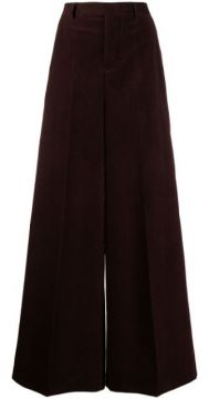 High-waisted Corduroy Flare Trousers - Rick Owens
