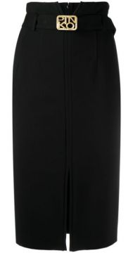 High-waist Straight Skirt - Pinko