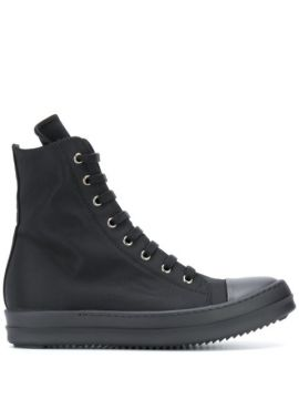 High-top Canvas Trainers - Rick Owens Drkshdw