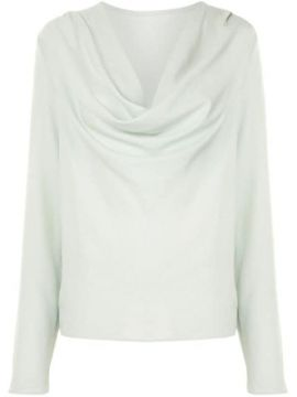 Long-sleeved Cowl-neck Top - Lapointe