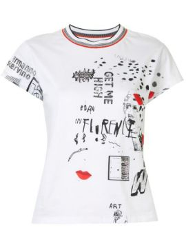 Graffiti-print Cotton T-shirt - Ermanno Scervino