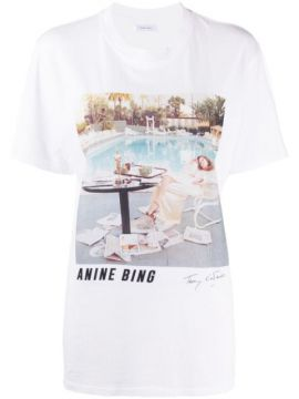 Photographic-print Cotton T-shirt - Anine Bing