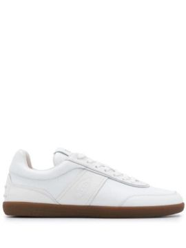 Leather Lace-up Sneakers - Tods