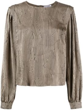 Panelled Striped Blouse - Anine Bing