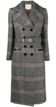 Belted Check Pattern Trench Coat - Alexa Chung