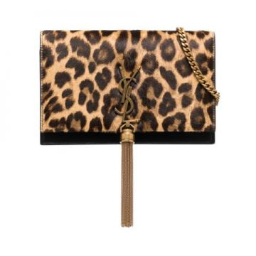 Bolsa Clutch Kate De Couro Com Estampa De Leopardo - Saint L