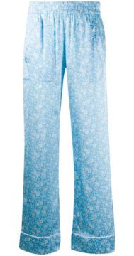 Floral Print Straight Trousers - Ganni