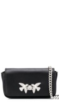 Mini Leather Crossbody Bag - Pinko