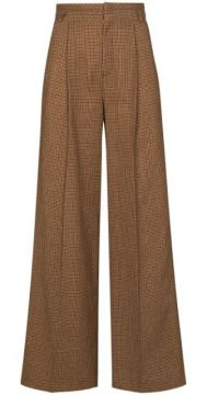 Houndstooth Flared Trousers - Chloé