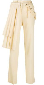 Gabard Curtains Panel Pant Beige No Col - Off-white