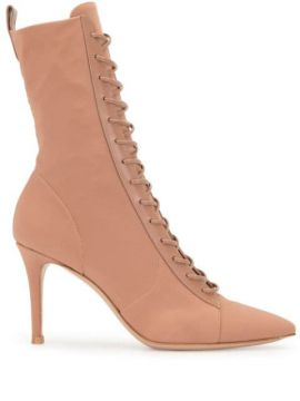 Pointed Toe Lace-up Boots - Gianvito Rossi