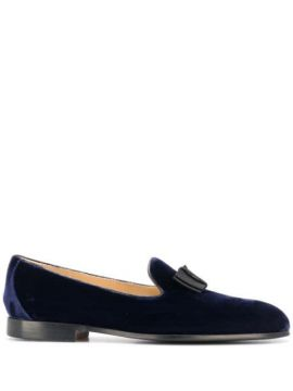 Bow Front Velvet Loafers - Doucals