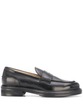 Block Heel Penny Loafers - Doucals