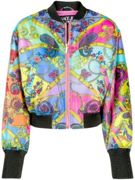 Paisley Fantasy Print Bomber Jacket - Versace Jeans Couture