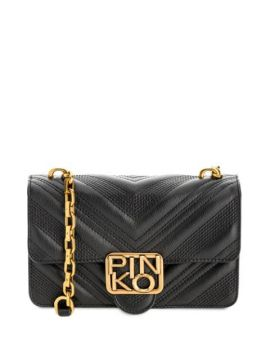 Quilted Leather Shoulder Bag - Pinko