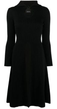 Knitted Flared Dress - Bevza