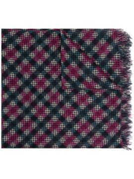 Ginga Checked Knitted Scarf - Destin