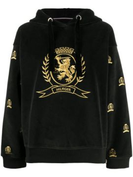 Logo Embroidered Hoodie - Hilfiger Collection