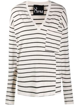 Panelled Striped Top - 8pm