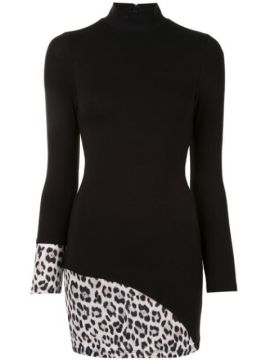 Leopard Print Panelled Bodycon Dress - Alice+olivia
