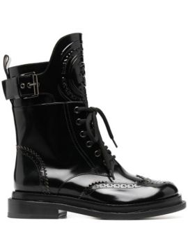 Lace-up Combat Boots - Ermanno Scervino
