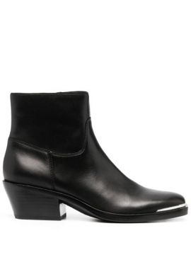 Zipped Ankle Boots - Ash