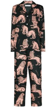Circle Lion Print Cotton Pyjama Set - Desmond & Dempsey