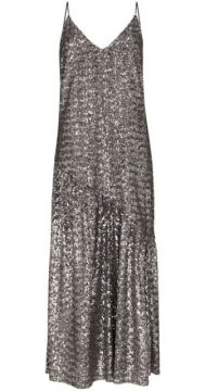 Sequin Embroidered Midi Dress - Borgo De Nor