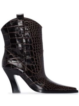 Western Crocodile-effect 85mm Boots - Tom Ford