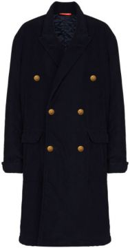 Double-breasted Cotton Coat - Denimist