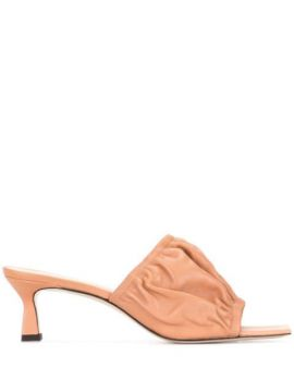 Ava 50mm Ruched Mules - Wandler
