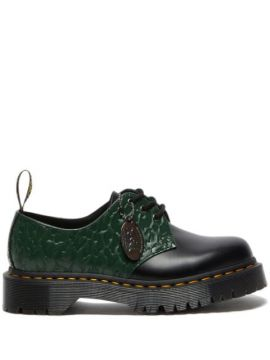 X X-girl Black And Green 1461 Derby Shoes - Dr. Martens