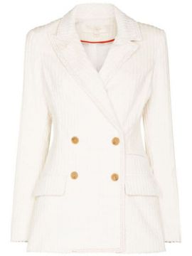 Lady Double-breasted Corduroy Blazer - By Any Other Name