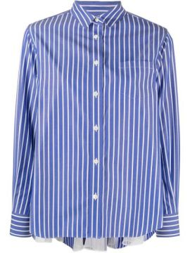 Vertical Stripe Shirt With Panelled-volume Back - Sacai