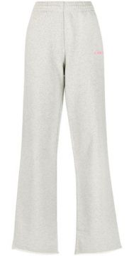 Embroidered-logo Flared Trousers - Helmut Lang