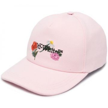 Flowers Baseball Cap - Off-white