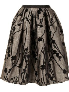 Floral Embroidered Full Skirt - Antonio Marras