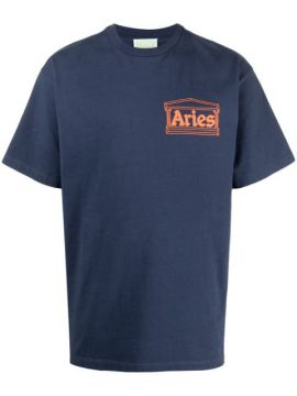 Camiseta Com Estampa De Logo Temple - Aries
