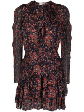 Vestido Mini Com Estampa Cecily Cosmos - Ulla Johnson