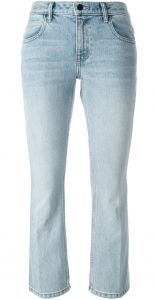 Calça jeans flare cropped  T By Alexander Wang