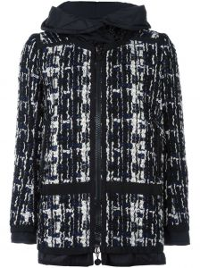 bouclé knit padded jacket