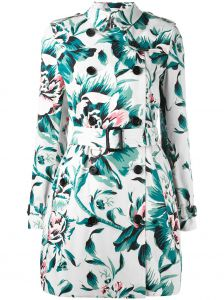 Trench coat floral