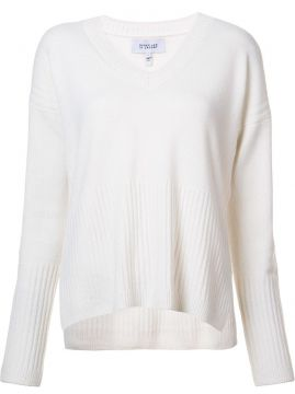 V-neck ribbed detailing jumper