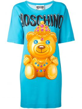 bear print T-shirt dress Moschino