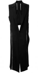 laced detail asymmetric waistcoat Dion Lee