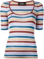 scoop neck striped T-shirt Dsquared2