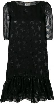 star pattern midi dress Saint Laurent