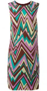 zig-zag print shift dress M Missoni