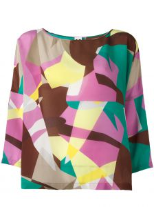 abstract print blouse M Missoni