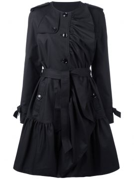 pleated trench coat Boutique Moschino